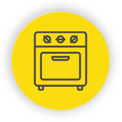 Yellow oven icon