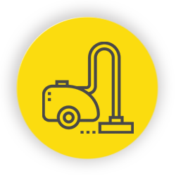 Yellow vacuum icon